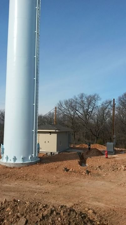 New Water Tower and Well House for the Wyandotte Nation